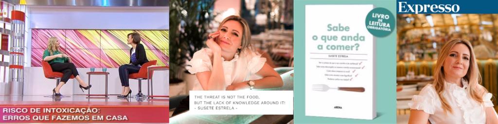 Susete Estrela na Tv, Jornal Expresso. Livro Sabe O que anda a Comer?