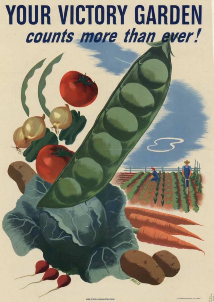 American WWII-era poster promoting victory gardens