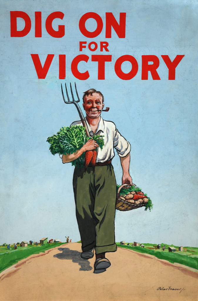 "The British ""Dig on for Victory"" poster"